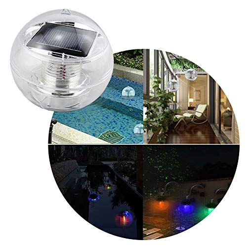 Lianqi Solar Floating Light Waterproof IP 44 Color Automatically Changing Led Night Lights For Garden Swimming Pool Pool Pond Party Home Decor (Pool Sale Swimming For Artificial)