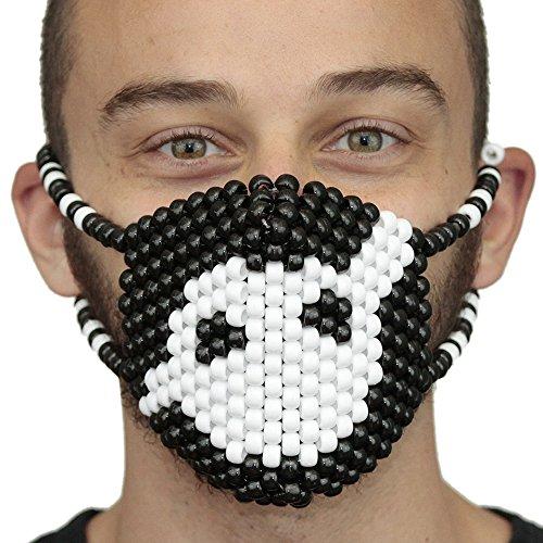 """Masque Chirurgical Kandi """"Knife Party"""" - Kandi Gear, masque pour rave party, masque pour Halloween, masque de perle pour festivals de musique et fêtes"""