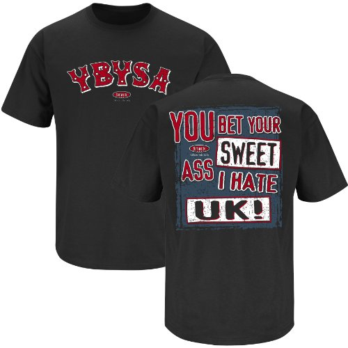 Louisville Football Fans. YBYSA I Hate Kentucky Black T-Shirt (S-5X) (Small)