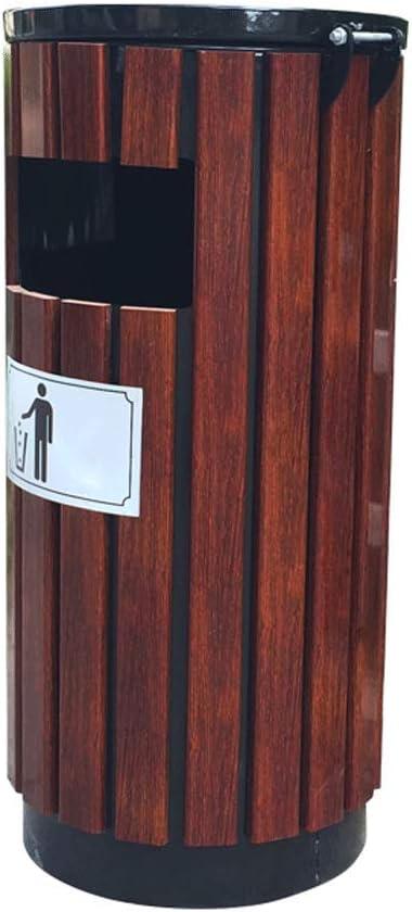 Outdoor M/ülltonnen Abfalleimer Au/ßen Holz Abfalleimer Hygiene Abfallbeh/älter gro/ß Peel Bin Abfalleimer Park M/ülleimer Papierkorb mit Aschenbecher Abfall Recycling Outdoor M/ülltonnen Abfalleimer