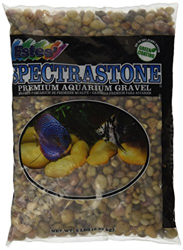 Spectrastone Shallow Creek Pebble for Freshwater Aquariums, 5-Pound Bag (Creek Pebbles)