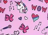 JoJo Unicorns Feel The Music 100% Polyester (Flat Sheet ONLY) Size Twin Girls Kids Bedding