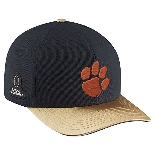 (Clemson Tigers Nike College Football Playoff 2016 National Champions Locker Room Coaches Classic 99 Adjustable Snapback Hat)