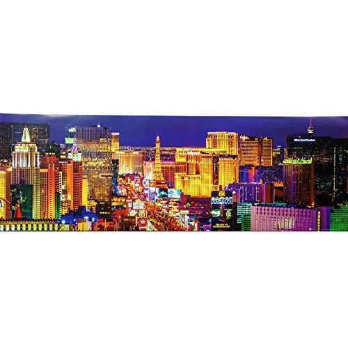 Las Vegas Strip at Night Panorama. Art Print Poster (36 x 12)