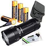FENIX FD65 3800 Lumen CREE LED focus adjustable Flashlight/searchlight USB rechargeable battery kit with 2 X EdisonBright USB charging cables bundle