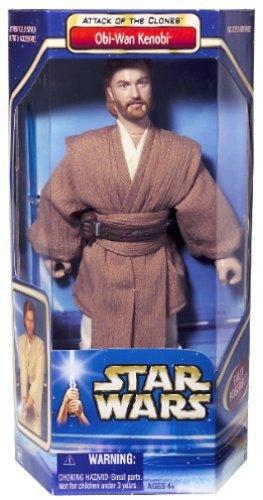Wan Kenobi 12 Inch Figure - Star Wars AOTC Obi Wan Kenobi 12in Collectors Figure