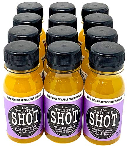 The Twisted Shot - Organic Apple Cider Vinegar shot with Turmeric, Ginger, Cinnamon, Honey & Cayenne - 12-pack of 2oz shots by The Twisted Shrub (Image #9)