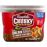 Campbell's Chunky Soup, Sirloin Burger with Country Vegetables, 15.25 Ounce (Pack of 8) (Packaging May Vary)