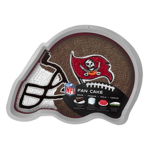 NFL Tampa Bay Buccaneers Fan Cakes Heat Resistant CPET Plastic Cake Pan ()