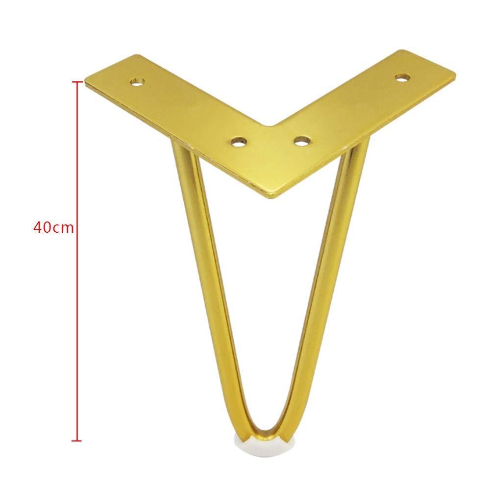BAIJJ Furniture Foot Table Foot U-Shaped Table Legs Iron Wire Bed Foot Table Foot Cabinet Feet Foot Sofa Feet Furniture Accessories Titanium Gold