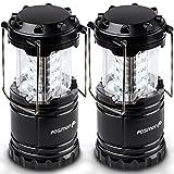 Portable LED Lantern (2 Pack), Fosmon 30 LED Ultra Bright...