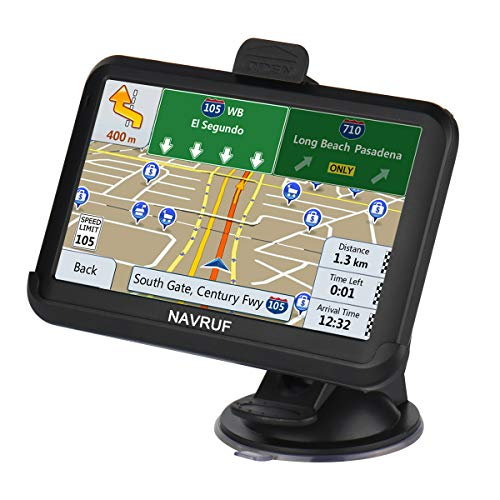 Car GPS Navigation, 5-inch 8GB HD Touch Screen GPS Navigation System pre-Installed North America map, Lifetime map Free Update, Voice Turn Direction, Driving Alarm
