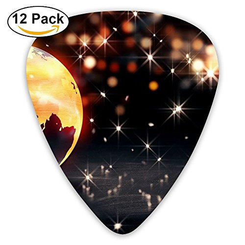 12-pack Fashion Classic Electric Guitar Picks Plectrums Earth