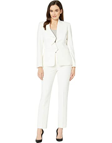 7801a212d53 Tahari by ASL Women s Pebble Crepe Ruffle Pants Suit