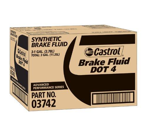 Castrol 03742-3PK DOT-4 Brake Fluid - 1 Gallon, (Pack of 3) by Castrol