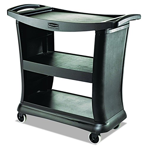 Rubbermaid Commercial Executive Series Utility Cart, Black, FG9T6800BLA - Executive Service Cart