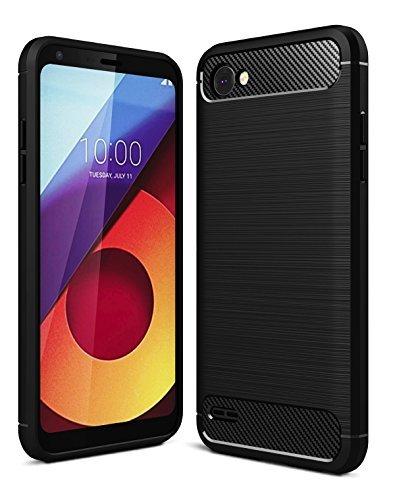 sports shoes d2d91 8185d Golden Sand PU Case Back Cover for LG Q6 , LG Q6 Plus (Black)