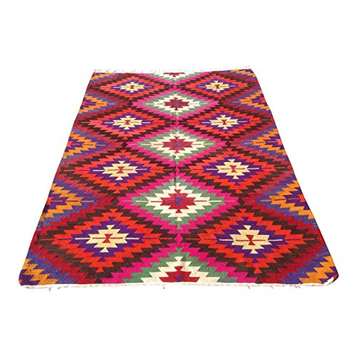 Vintage Turkish Kilim Rug - 6′2″ × 8′4″