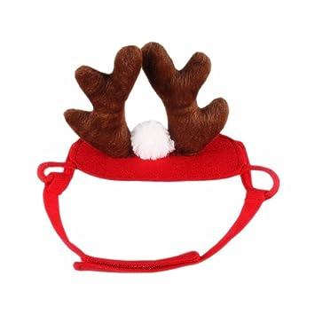 Bello Luna Pet Antlers Traje de Cosplay Halloween Accesorios de Navidad Headband para Perros y Gatos: Amazon.es: Productos para mascotas