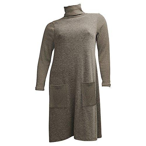 Damen Hüfttaschen RICK Kleid Linie CAROLIN Grau Rollkragen A znw56aTq