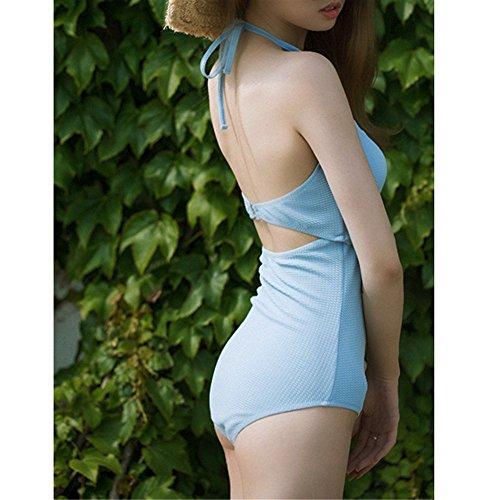 Reizvoller Wellenrand hoher Taillenbadeanzugabdeckungsbauchkörper-Bikini-Damerücksortierungstrandbadeanzug, XL