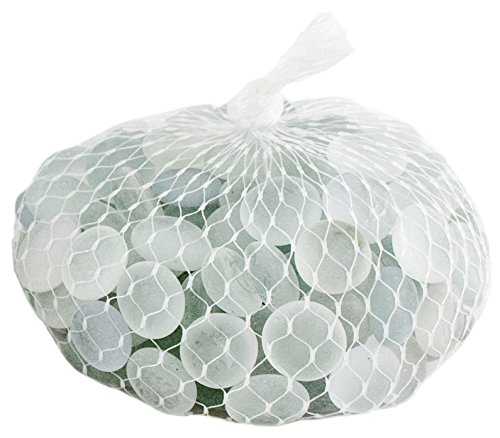 Supermoss (24132) Soft Glass Pebbles Vase Filler, 2lb, Frosted White