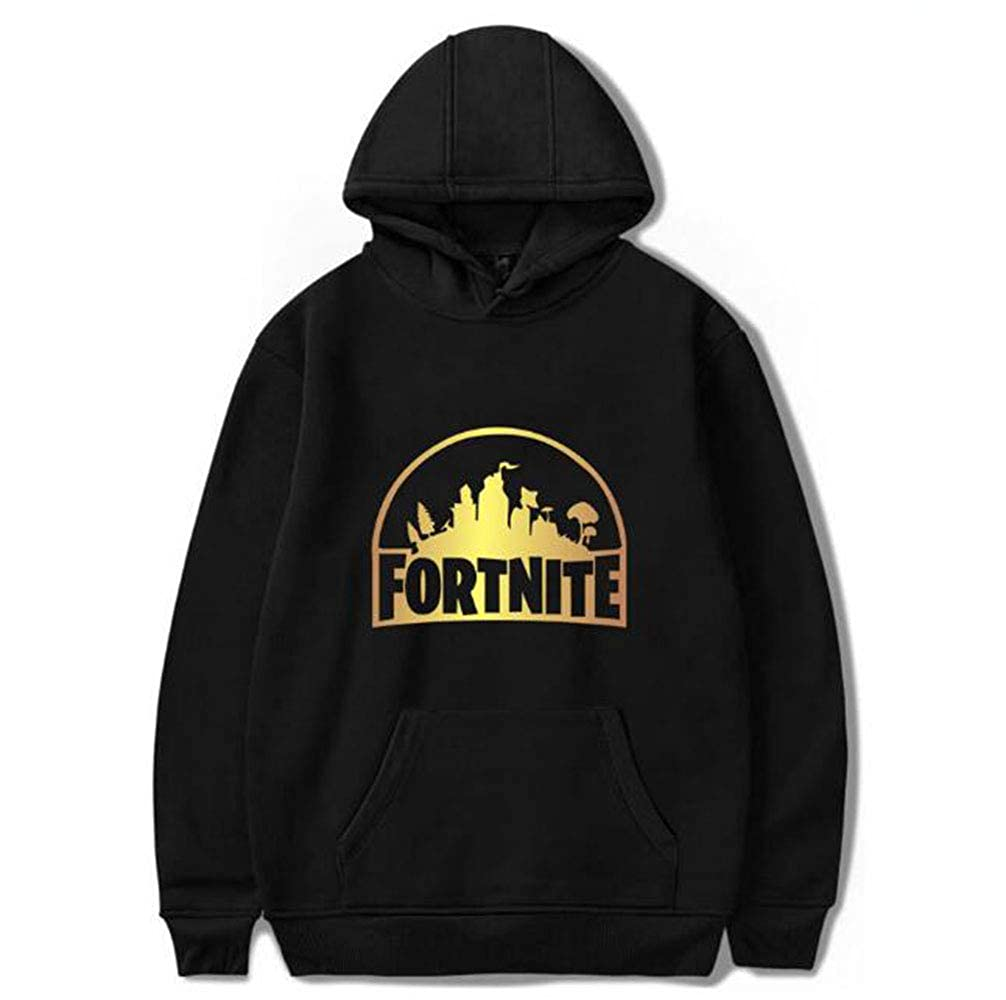 Imcneal Fortnite Sweatshirt Men Boys Hoodies Women Clothing Oversized Hoodie for002-Black