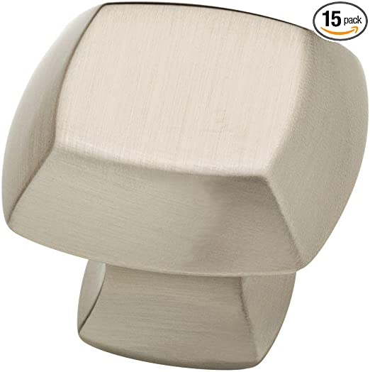 Drawer Cabinet Knob Handle Mandara Square 1-1//4 in Cocoa Bronze 10-Pack