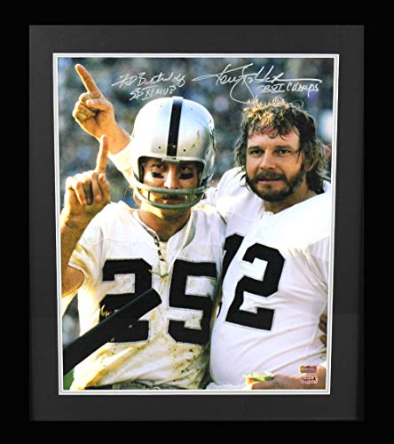 Ken Stabler & Fred Biletnikoff Signed Oakland Raiders Framed Color 1620 Photo With