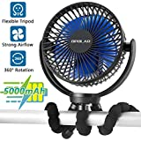 5000mAh Rechargeable Battery Powered Clip Fan