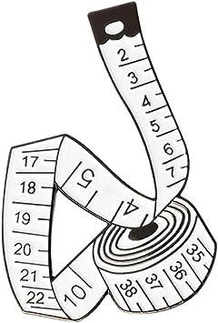 Creative Tape Ruler Shape Enamel Brooch Pin Badge Fashion Jewelry Y2
