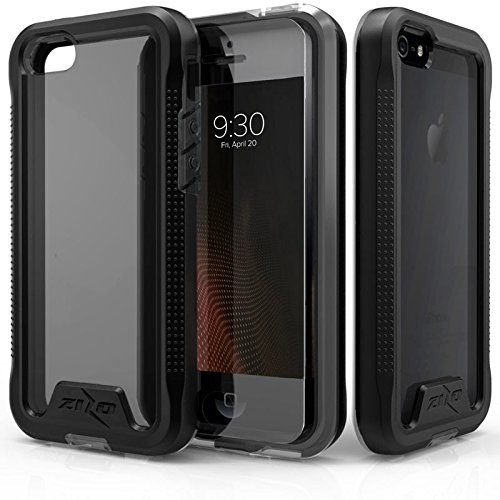 online store 29ef7 e9be7 iPhone SE Case, Zizo [ION Series] with Free [iPhone SE Screen Protector]  Transparent Clear [Military Grade Drop Tested] for iPhone SE and iPhone 5s