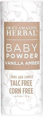 Baby Powder, Talc Free Baby Powder, Natural Vanilla Amber, Corn Free