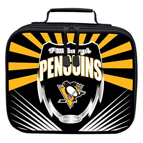 (The Northwest Company Officially Licensed NHL Pittsburgh Penguins Lightning Kids Lunch Kit, Black)