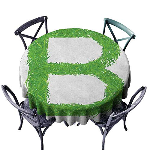 G Idle Sky Letter B Restaurant Tablecloth Kids Baby Boys Children Capital B Name Fresh Growth Environment Ecology Concept Indoor Outdoor Camping Picnic D43 Green White