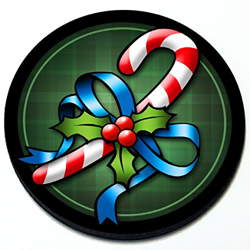 Artistic Reflection Candy Cane - Magnetic Grill Badge for Mini Cooper