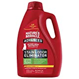 Nature's Miracle Cat Advanced Stain and Odor Eliminator, 128 fl oz, Sunny Lemon Scent, Enzymatic Formula for Urine Stains, Diarrhea Stains and Vomit Stains, Odor Control