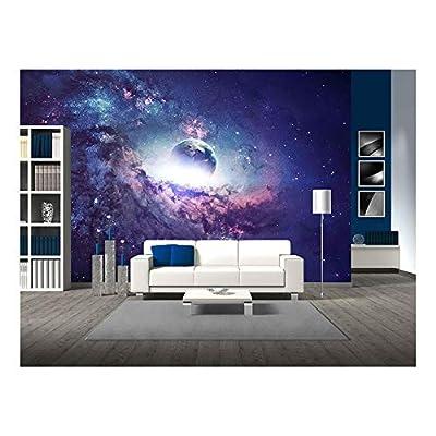 Purple Galaxy Planet Space Stars Wall Decor - Wall Murals