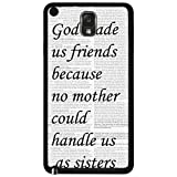 Best Nue Design Cases friends phone case - God Made Us Friends With Quote Rubber Silicone Review