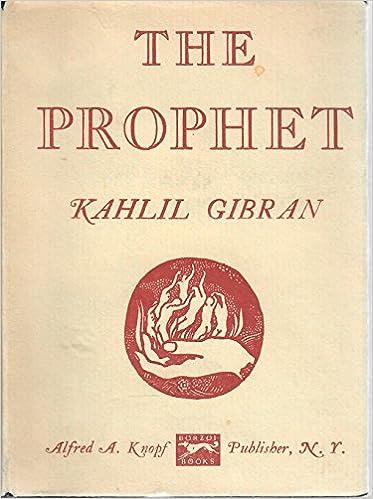 The Prophet By Kahlil Gibran 1960 Pocket Edition Kahlil
