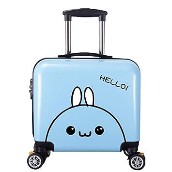 Zhanyi Maleta de Dibujos Animados para bebés, Maleta para Trolley, para Sentarse y Montar Equipaje. Maleta de 18 Pulgadas. (Color : Blue Rabbit): Amazon.es: ...