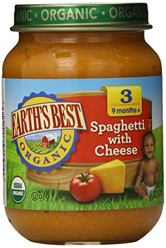Earth's Best Organic Stage 3, Spaghetti with Cheese, 6 Ounce Jar (Pack of (Cheese Spaghetti)
