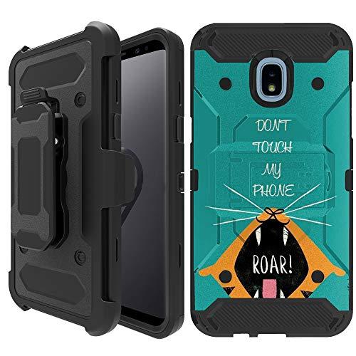 Untouchble Case for Samsung Galaxy J3 2018, Express Prime 3, Amp Prime 3,  J3 Orbit, J3 Achieve, J3 Star, Sol 3 [TANK SERIES HOLSTER] Heavy Duty Cover