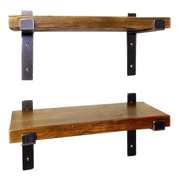 Wand Schwimmende Regale Aus Metall Eisen Und Holz Für Bar Wohnzimmer Küche  / LOFT Wandbehang Cube
