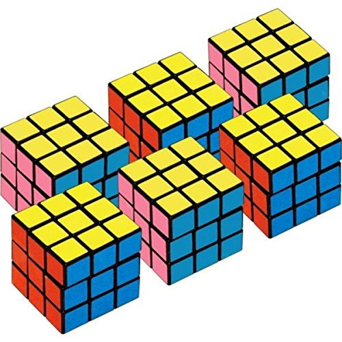 Rubix Cube Costumes (Amscan Mini Cubes Party Favors Cube Puzzle (6 Pack))