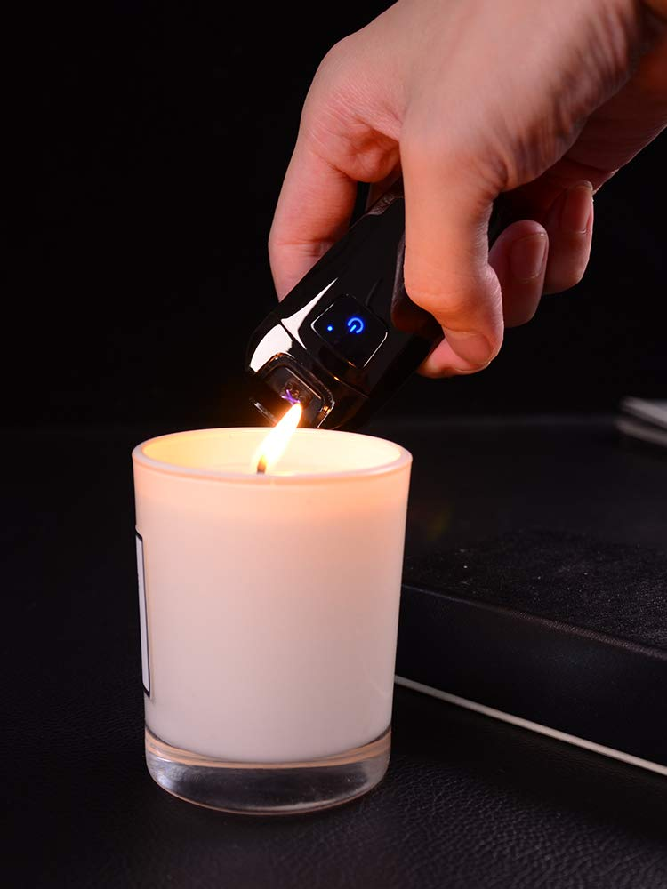 USB Elektro Feuerzeug,Dopple Lichtbogen Feuerzeug Elektronisch Aufladbar Lighter Flammenlose Feuerzeug