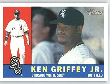 super popular 8e177 82f76 Amazon.com: Ken Griffey Jr. - Chicago White Sox - 2009 Topps ...