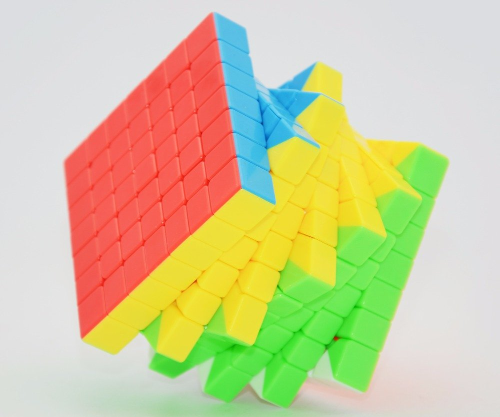 Mo Yu Mf7 7x7x7 Jiao Shi Stickerless Speed Cube Mf7 S 7 Layer Professional Speed Cube Puzzle From Robo Cubes by Mo Yu
