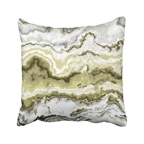 Emvency Green African Gem Stone Pattern White Agate Aluminosilicate Batu Botswana Brazilian Throw Pillow Covers 20