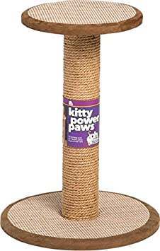 Prevue Pet Products Kitty Power Paws Tall Round Post with Platform, Natural 7102